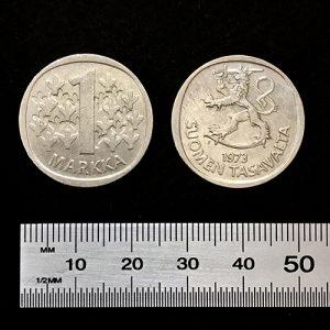 1 markka 24 mm silver color