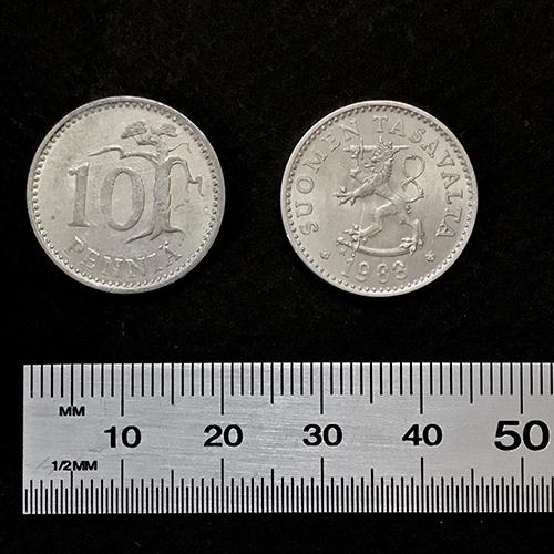 10 penni 20 mm silver color